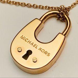 Michael Kors Cityscape Padlock Long Necklace